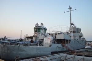 La embarcación Aldebarán es histórica, fue un dragamina que combatió en la segunda guerra mundial.
