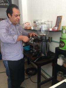 Marcos Cabrera, gerente de La Cafeta.