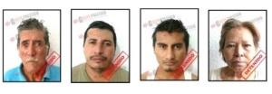 Esta es la banda de secuestradores que ya fueron consignados al interior del CERESO.