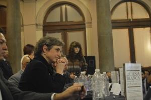 La periodista mexicana, Carmen Aristegui, durante la presentación del libro La Casa Blanca de Peña Nieto.