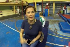 Mónica Aguilar de la Garza, la madre de una campeona.