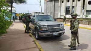 Camioneta fue interceptada por el Ejército.