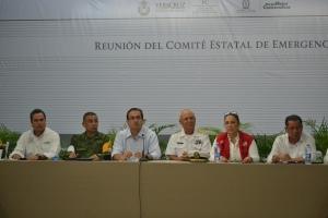 En sesión del Comité Estatal de Emergencias celebrada en Coatzacoalcos, el mandatario apuntó que el problema no serán los vientos, ya que no va a ser un huracán, sino más bien se trata de la cantidad de agua.
