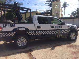 Una patrulla resguarda el lugar.