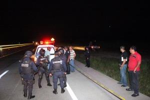 La Policía resguarda la escena del hallazgo; estaba desembrado.