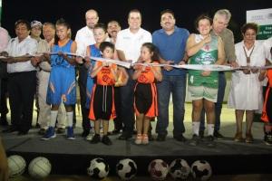 Las autoridades municipales y la SEDATU inauguraron anoche la nueva infraestructura.