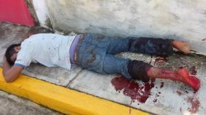 Delincuente herido de bala en Cosoleacaque.
