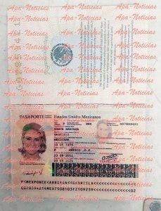 El pasaporte falso de Karime.