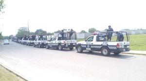 Policía Estatal en Las Choapas.
