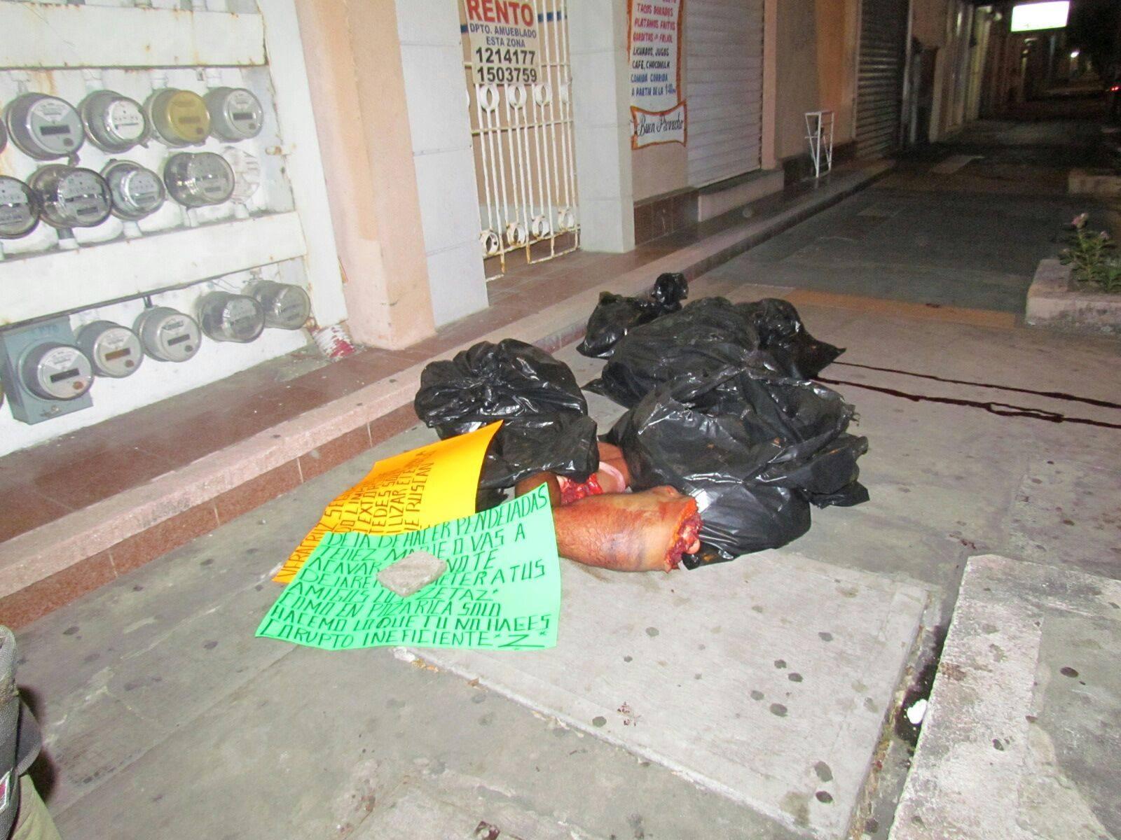 Arrojan cuerpo de desmembrados en Veracruz