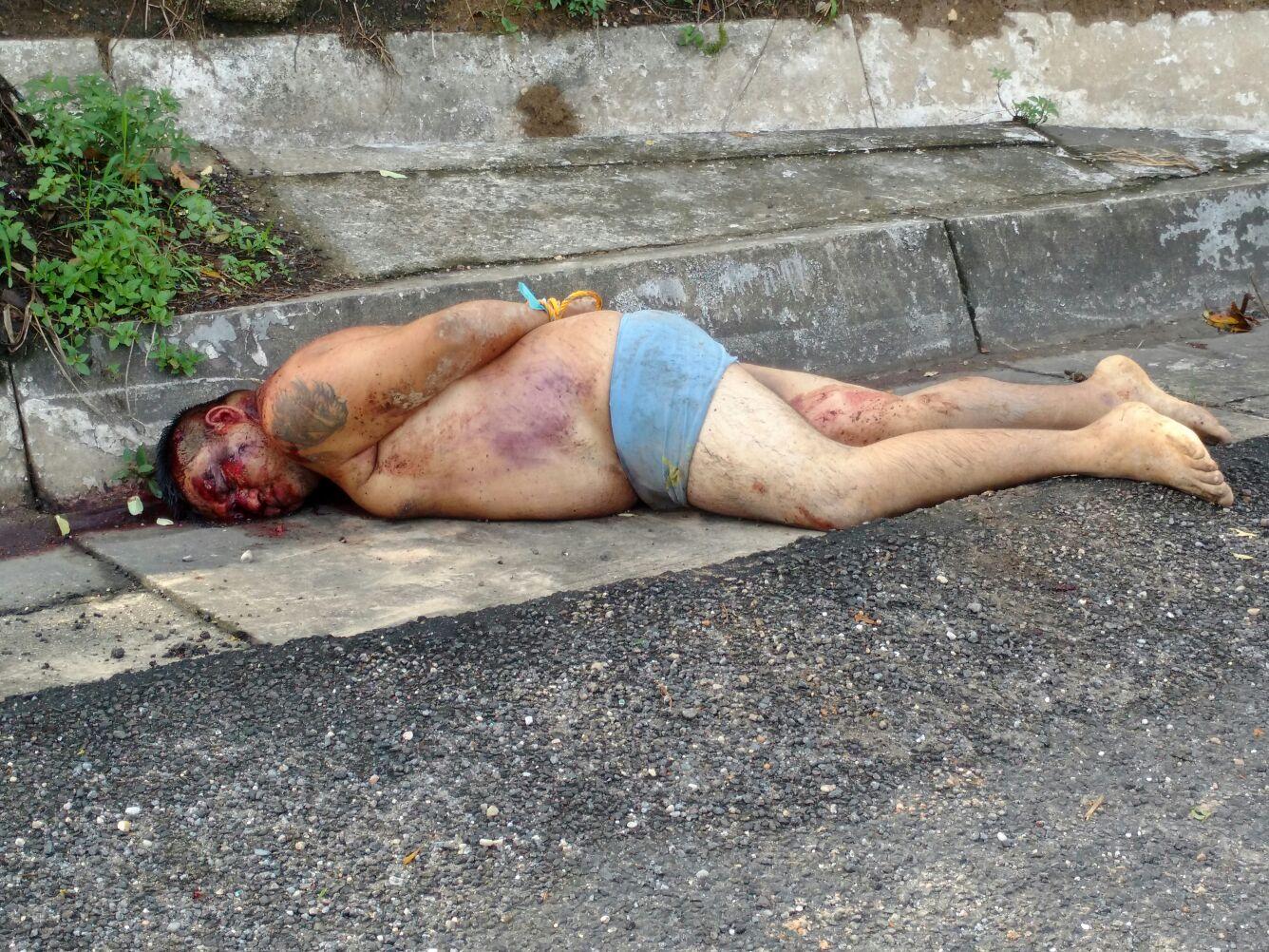 Arrojan cuerpo de ejecutado sobre la autopista federal Nuevo Teapa-Cosoleaque