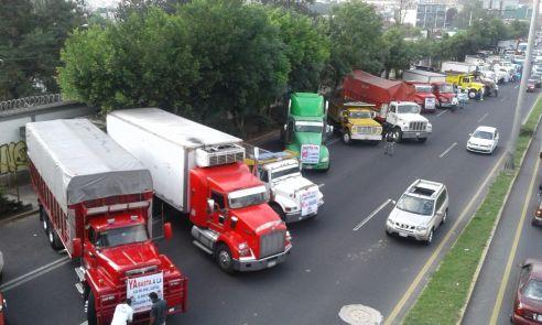 MANIFESTACIÓN DE TRANSPORTISTAS