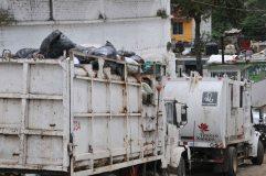 EUM20181009NAC03.JPG XALAPA, Ver., Trash/Basura-Veracruz.- Las unidades de recolección de basura se mantienen ajenas a sus labores debido a la cancelación de un contrato con una empresa privada por parte del alcalde de este municipio, el morenista Hipólito Rodríguez, el martes 9 de octubre de 2018. Foto: Agencia EL UNIVERSAL/EVZ