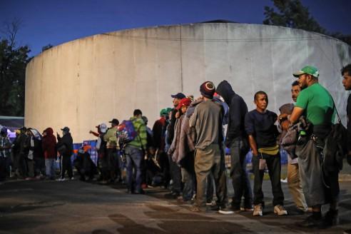 Migrantes albergue CDMX