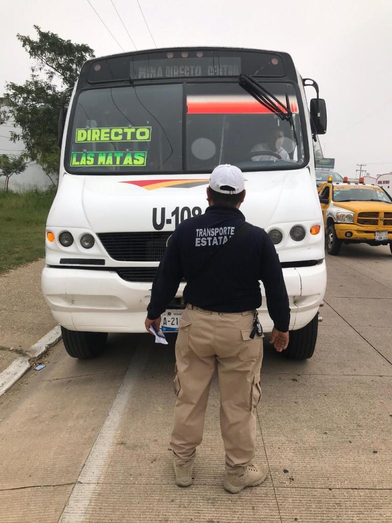 Operativos de Transporte Estatal para detectar unidades piratas e irregulares.